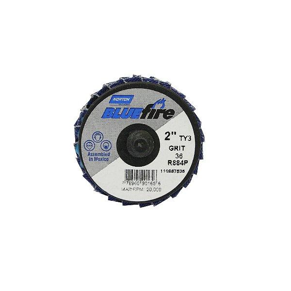 Disco Flap BlueFire Mini R884P Grão 36 50,8 mm Caixa com 10