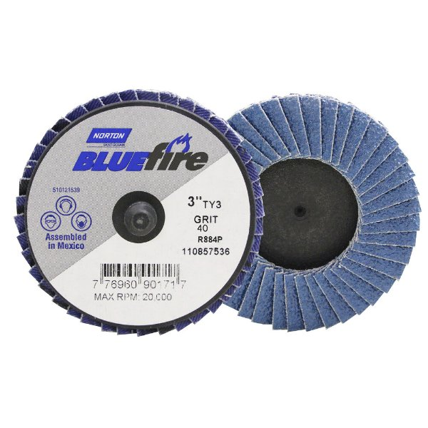Caixa com 10 Disco Flap BlueFire Mini R884P Grão 40 76,2 mm