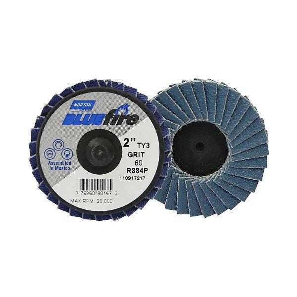 Caixa com 10 Disco Flap BlueFire Mini R884P Grão 60 50,8 mm