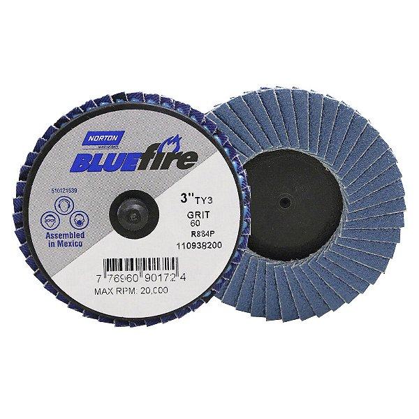 Caixa com 10 Disco Flap BlueFire Mini R884P Grão 60 76,2 mm