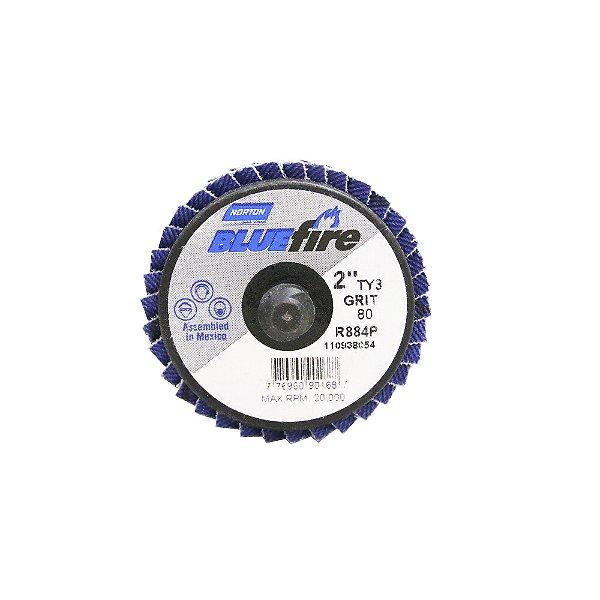Caixa com 10 Disco Flap BlueFire Mini R884P Grão 80 50,8 mm