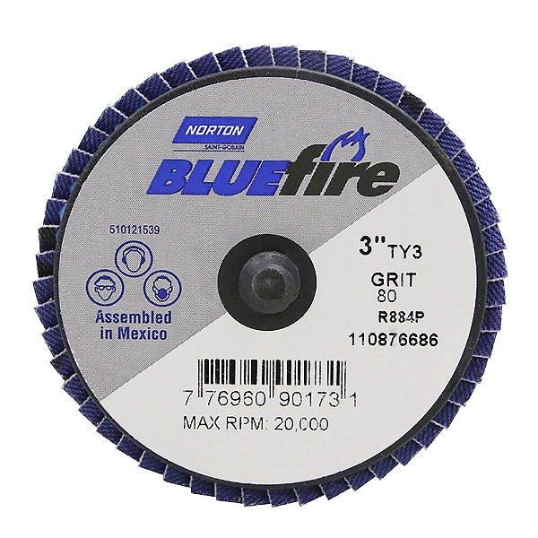 Caixa com 10 Disco Flap BlueFire Mini R884P Grão 80 76,2 mm