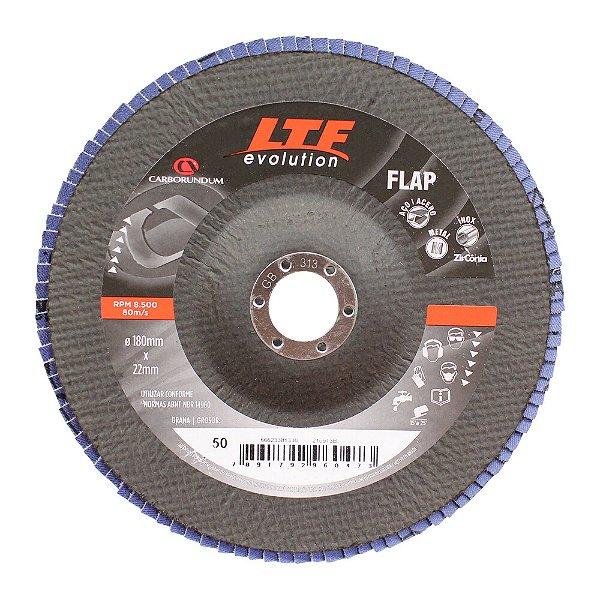 Disco Flap Carboforce LTF Grão 50 180 x 22 mm Caixa com 5