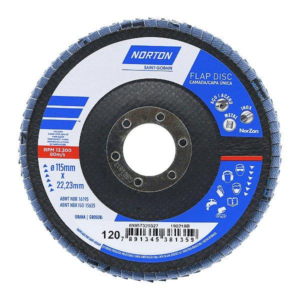 Disco Flap Original R822 Grão 120 115 x 22,23 mm Caixa com 10