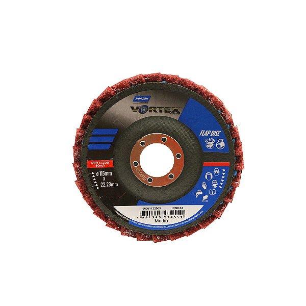 Disco Flap Vortex Médio Vermelho 115 x 22 mm Caixa com 5