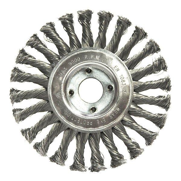 Escova Circular Trançada Aço Temperado 152,4 x 12,7 mm Caixa com 50