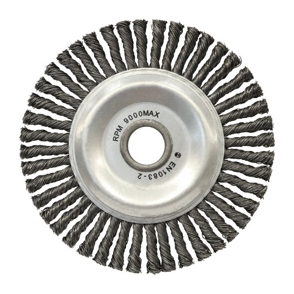 Escova Circular Trançada Aço Temperado 152,4 x 6,35 mm Caixa com 10