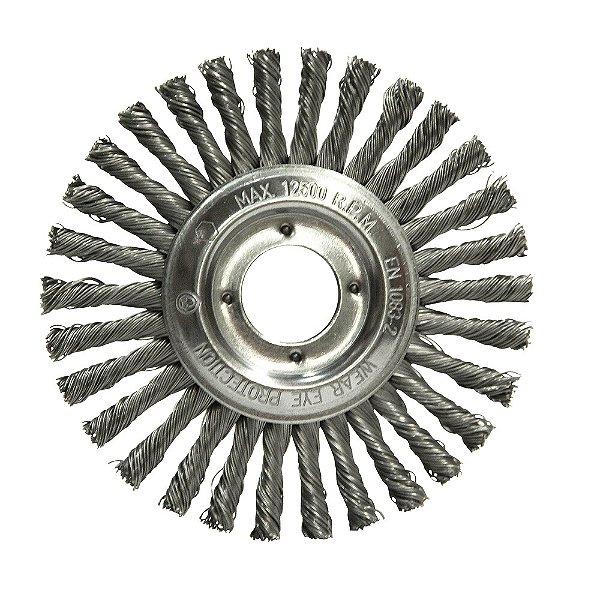 Caixa com 50 Escovas Circular Trançada Aço Temperado 152,4 x 6,35 mm