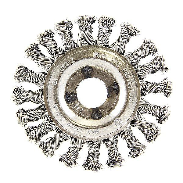 Caixa com 10 Escova Circular Trançada Inox 114,3 x 12,7 mm