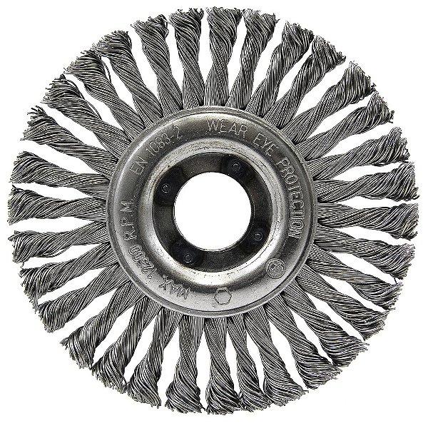Caixa com 10 Escova Circular Trançada Inox 114,3 x 6,35 mm