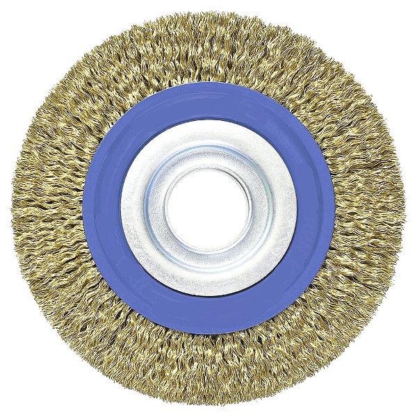Caixa com 20 Escova de Aço Circular Ondulada 152,4 x 12,7 mm
