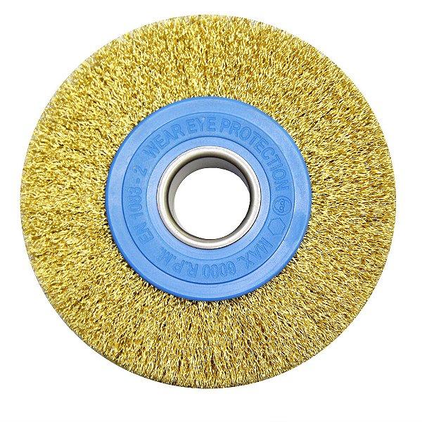 Caixa com 15 Escova de Aço Circular Ondulada 152,4 x 25,4 mm