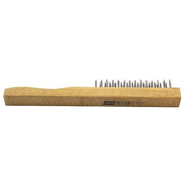 Caixa com 12 Escova de Aço Manual com 3 Fileiras