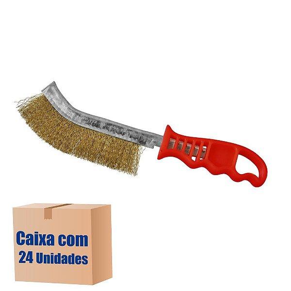 Caixa com 24 Escova de Aço Manual Universal - Latonada