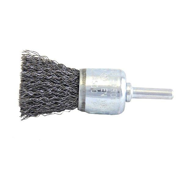 Caixa com 10 Escova de Aço Pincel Ondulada Hobby 25 mm