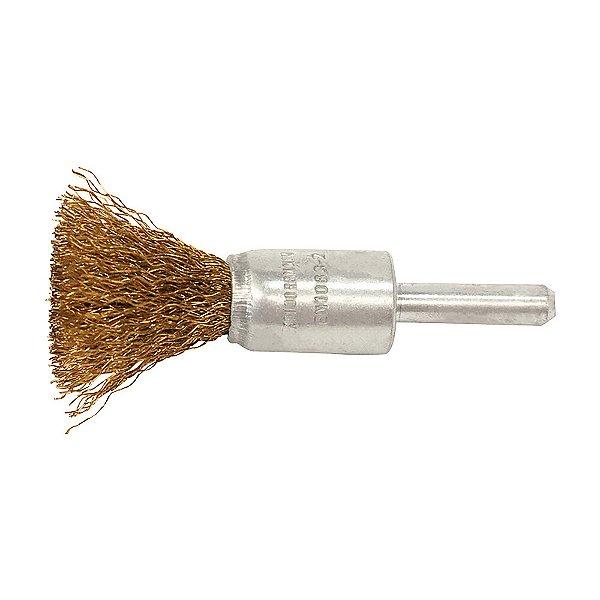 Caixa com 140 Escova de Aço Pincel Profissional com Haste de 17 mm
