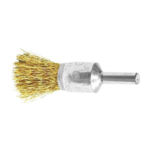 Caixa com 10 Escova Pincel 17 mm Aço Carbono 0,30 mm
