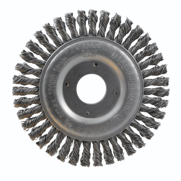 Caixa com 10 Escova Rotativa Trançada D115 Aço 050 A06 R22 150 x 06 x 22 mm