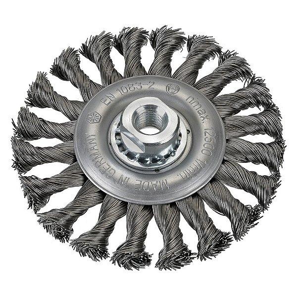 Escova Rotativa Trançada D150 Inox 050 A06 R22 150 x 06 x 22 mm Caixa com 12