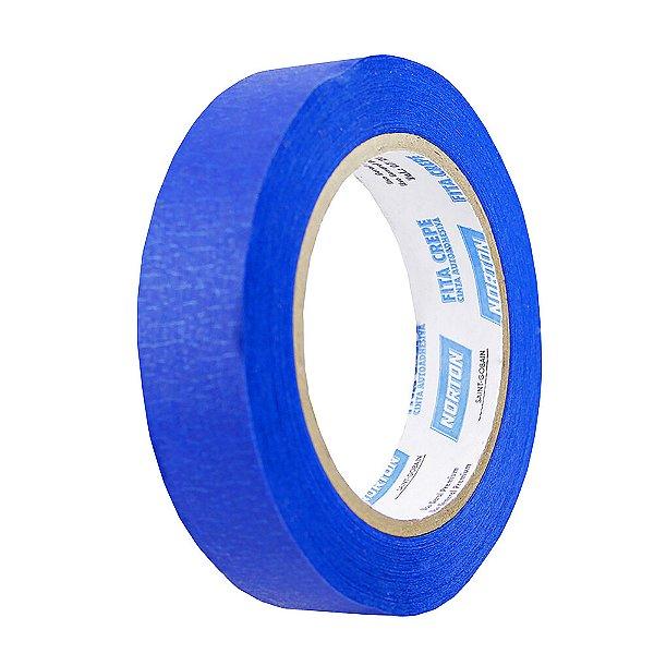 Caixa com 36 Fita Crepe Uso Geral Premium Azul 24 x 50 m