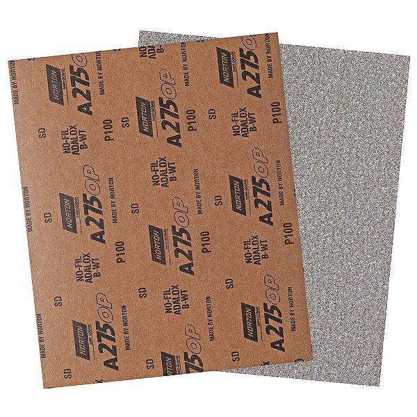 Pacote com 200 Folha de Lixa A275 Grão 100 230 x 280 mm