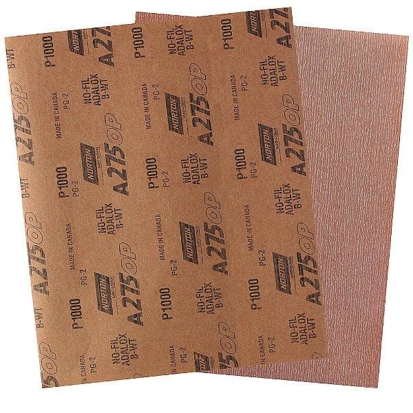 Pacote com 200 Folha de Lixa A275 Grão 1000 230 x 280 mm