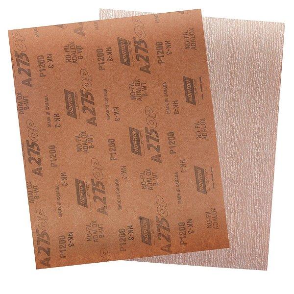 Pacote com 200 Folha de Lixa A275 Grão 1200 230 x 280 mm