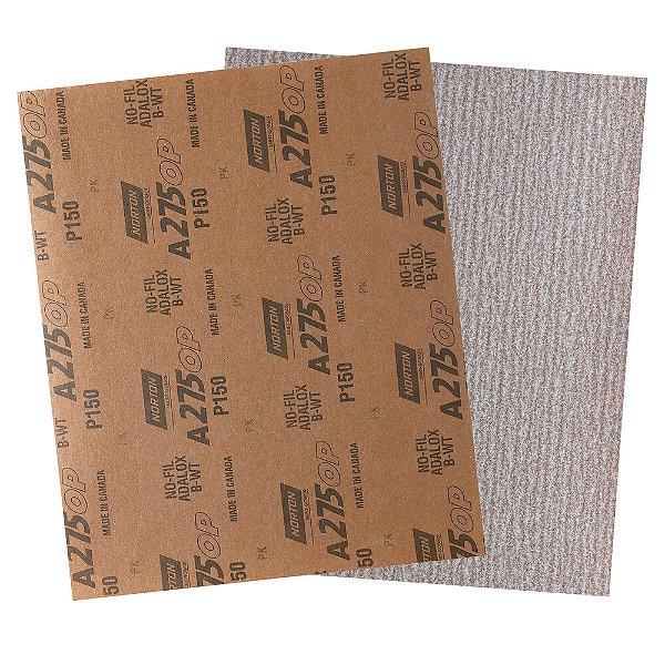 Folha de Lixa A275 Grão 150 230 x 280 mm Pacote com 200