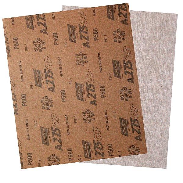 Folha de Lixa A275 Grão 500 230 x 280 mm Pacote com 200