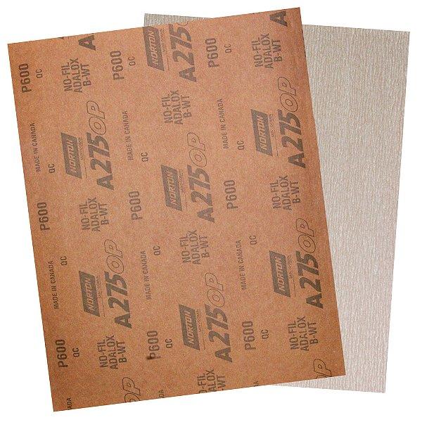 Pacote com 200 Folha de Lixa A275 Grão 600 230 x 280 mm