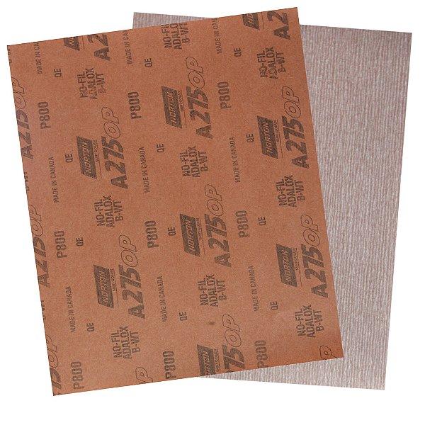 Folha de Lixa A275 Grão 800 230 x 280 mm Pacote com 200