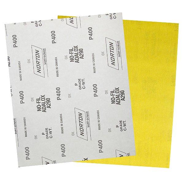 Pacote com 200 Folha de Lixa A290 Grão 400 230 x 280 mm
