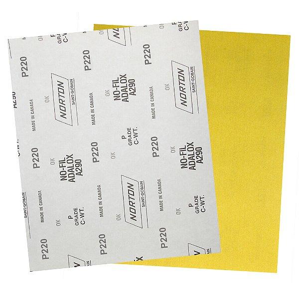Pacote com 200 Folha de Lixa A290 Grão 220 230 x 280 mm