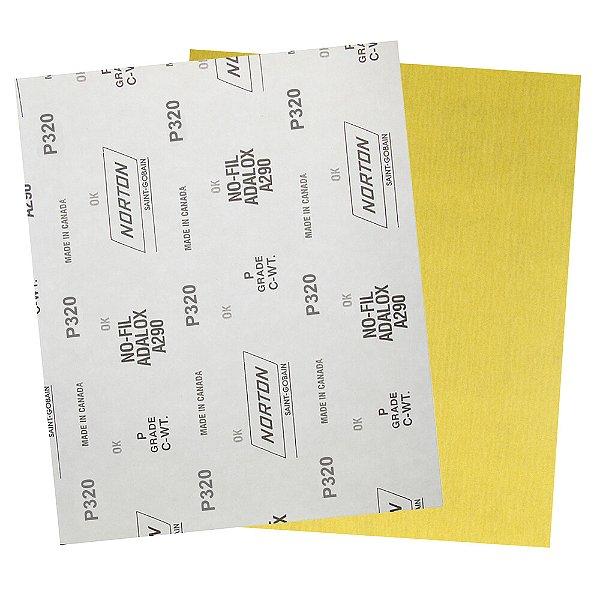 Pacote com 200 Folha de Lixa A290 Grão 320 230 x 280 mm