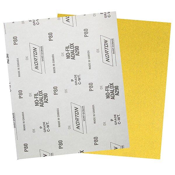 Folha de Lixa A290 Grão 80 230 x 280 mm Pacote com 200