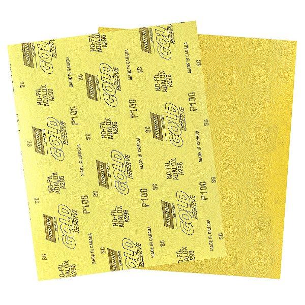 Pacote com 200 Folha de Lixa A296 Gold Grão 100 230 x 280 mm