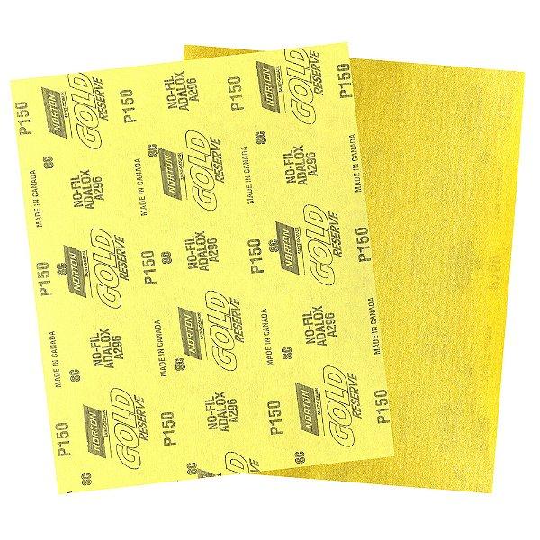 Pacote com 200 Folha de Lixa A296 Gold Grão 150 230 x 280 mm