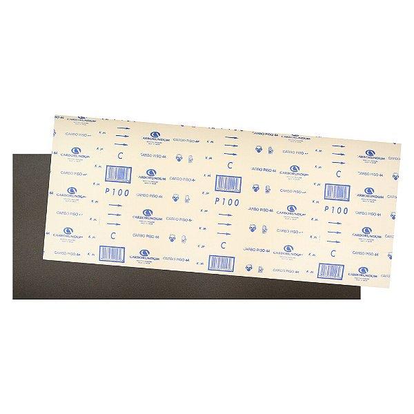 Pacote com 40 Folha de Lixa Carbopiso CAR44 Grão 100 305 x 750 mm