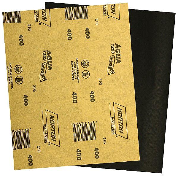 Pacote com 500 Folha de Lixa D'Água Adalox Advance T223 Grão 400 225 x 275 mm