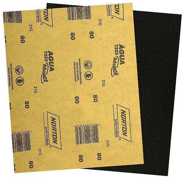 Folha de Lixa D'Água Adalox Advance T223 Grão 80 225 x 275 mm Pacote com 500