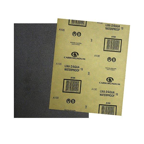 Folha de Lixa D'água CAR15 Grão 100 225 x 275 mm Pacote com 500