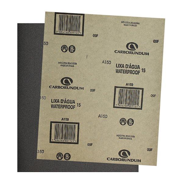 Pacote com 500 Folha de Lixa D'água CAR15 Grão 150 225 x 275 mm