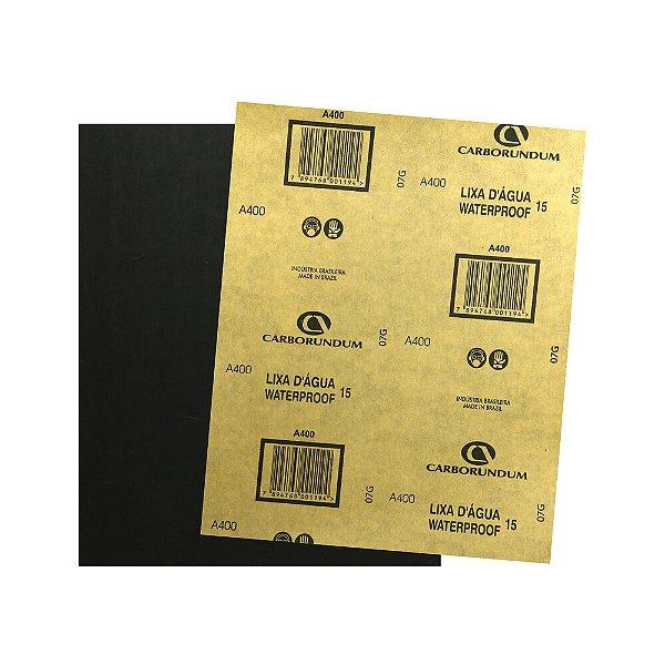 Pacote com 500 Folha de Lixa D'água CAR15 Grão 400 225 x 275 mm