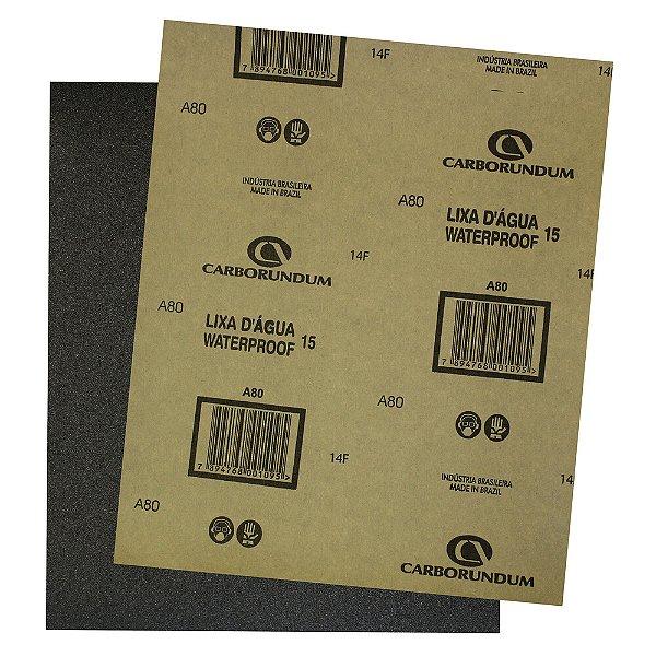 Pacote com 500 Folha de Lixa D'água CAR15 Grão 80 225 x 275 mm