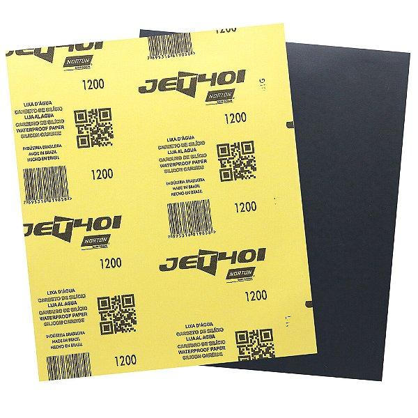 Pacote com 200 Folha de Lixa D'Água Jet T401 Grão 1200 230 x 280 mm