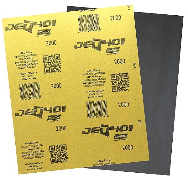 Pacote com 200 Folha de Lixa D'Água Jet T401 Grão 2000 230 x 280 mm