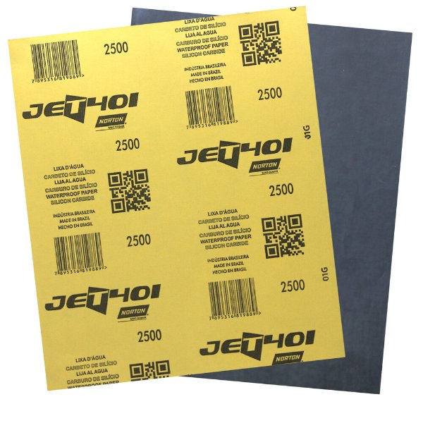 Pacote com 200 Folha de Lixa D'Água Jet T401 Grão 2500 230 x 280 mm