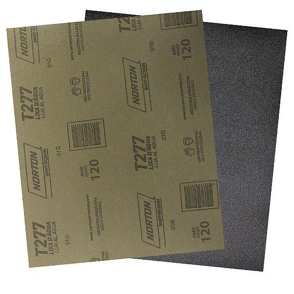 Pacote com 200 Folha de Lixa D'Água NorClass T277 Grão 120 230 x 280 mm
