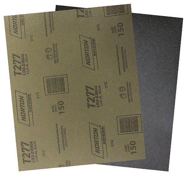Pacote com 200 Folha de Lixa D'Água NorClass T277 Grão 150 230 x 280 mm