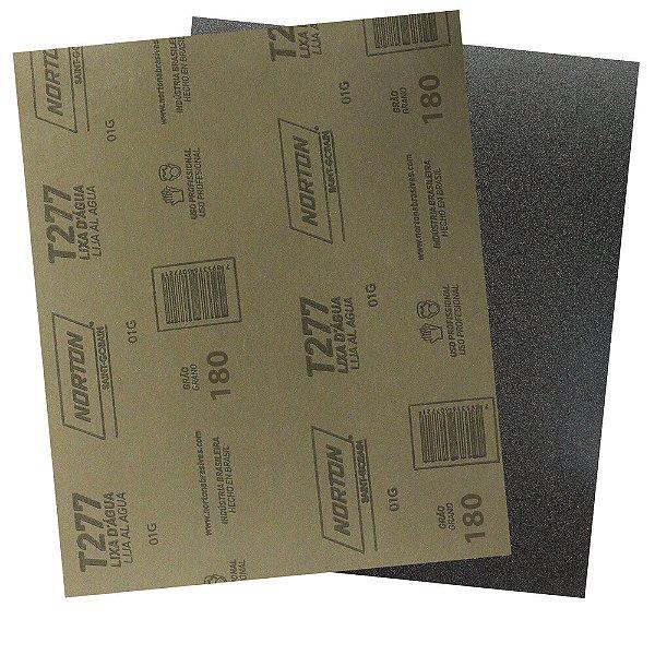 Pacote com 200 Folha de Lixa D'Água NorClass T277 Grão 180 230 x 280 mm